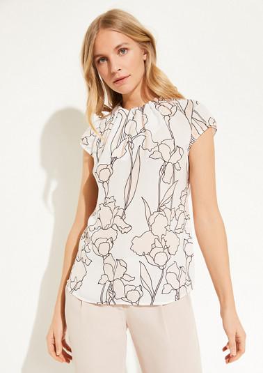 Elegante Bluse mit Rüschenkragen