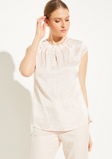 Blouse top with striking pleats from comma