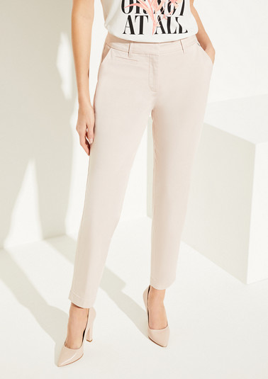 Business trousers made of cotton satin from comma