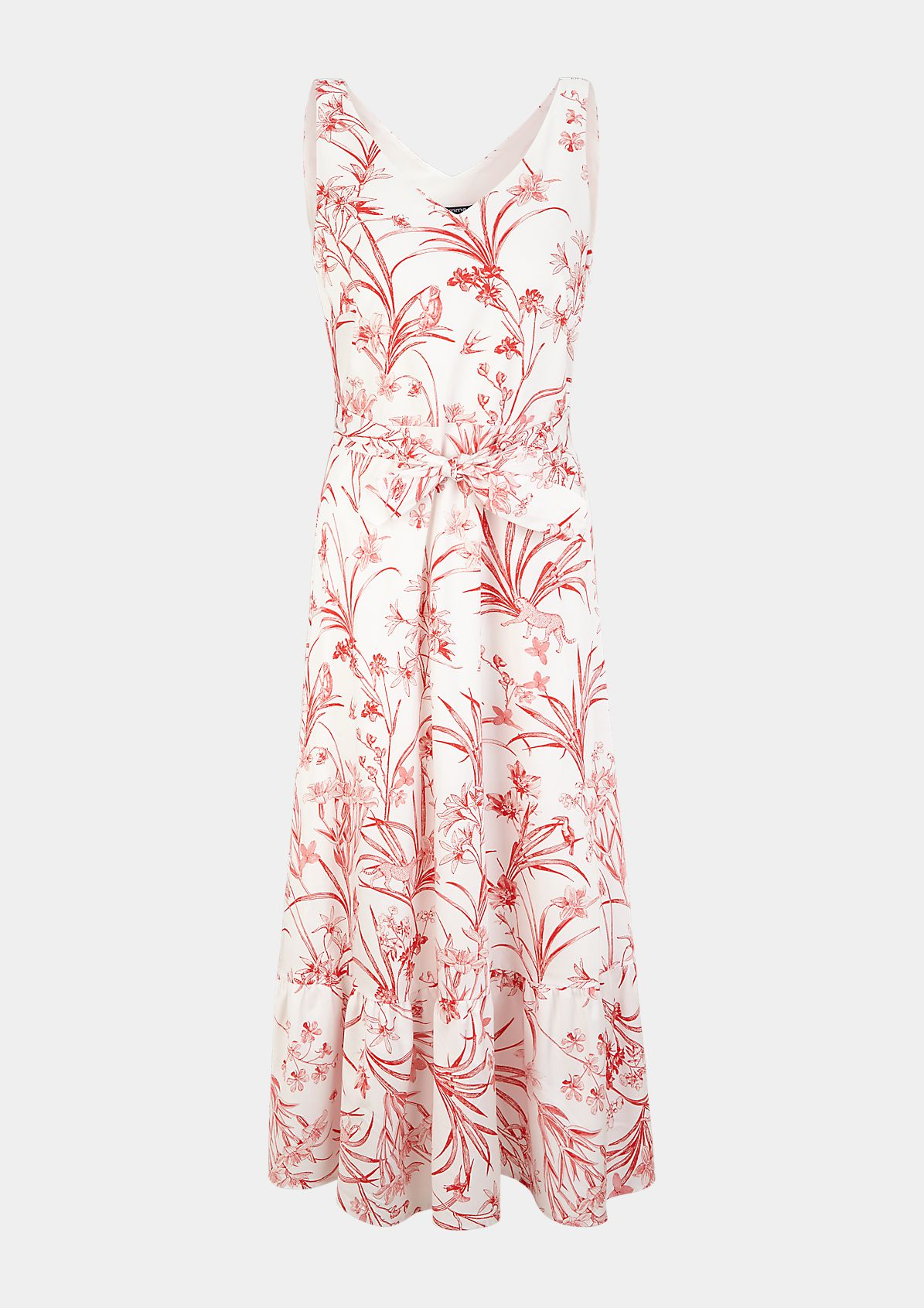 Maxikleid mit Tropical-Muster