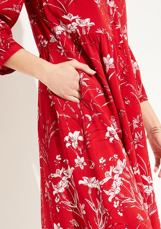 Blusenkleid mit Printmuster