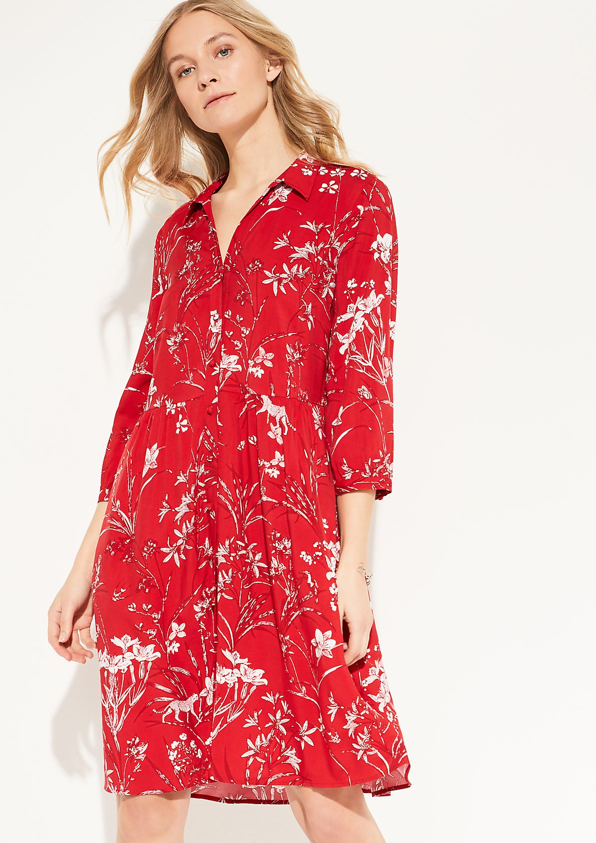 Blouse dress with a printed pattern from comma