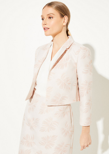 Jacquard blazer with a glitter effect from comma