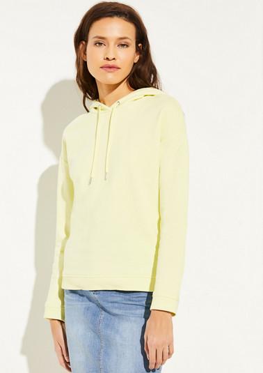 Hoodie in Neonfarbe