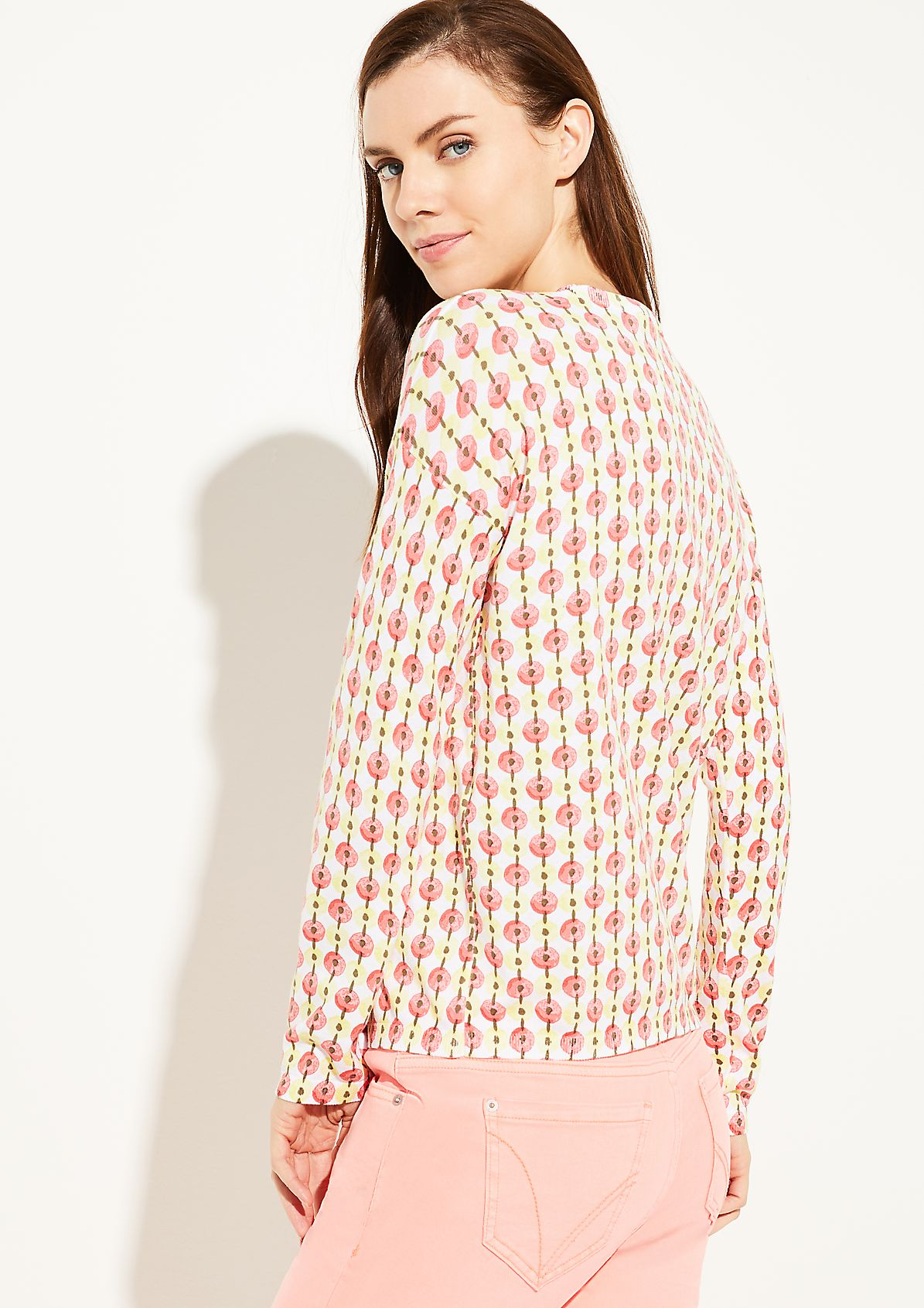 Fine knit jumper trousers with an all-over pattern from comma