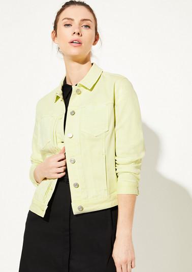 Coloured Denim-Jacke mit Waschung
