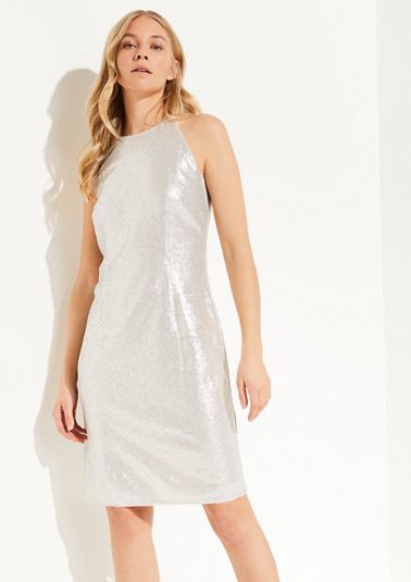 Sparkling strap dress with sequins from comma