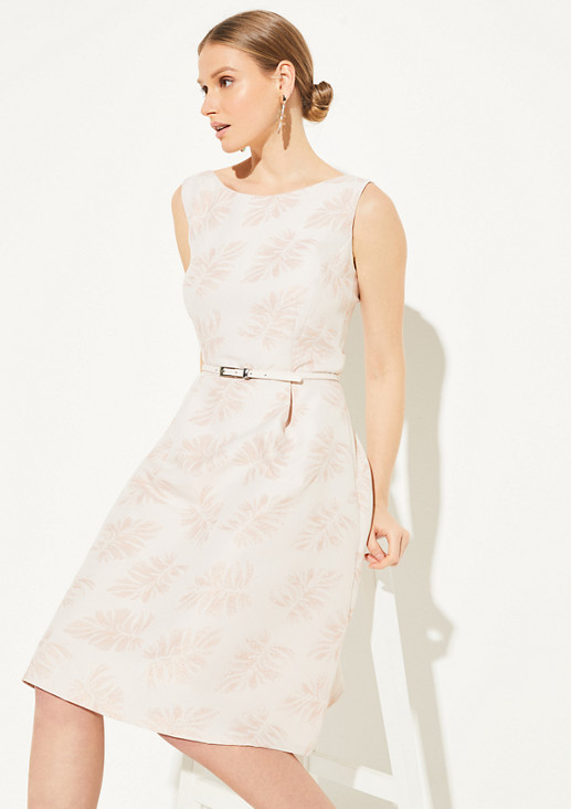 Jacquard dress with a tropical pattern from comma