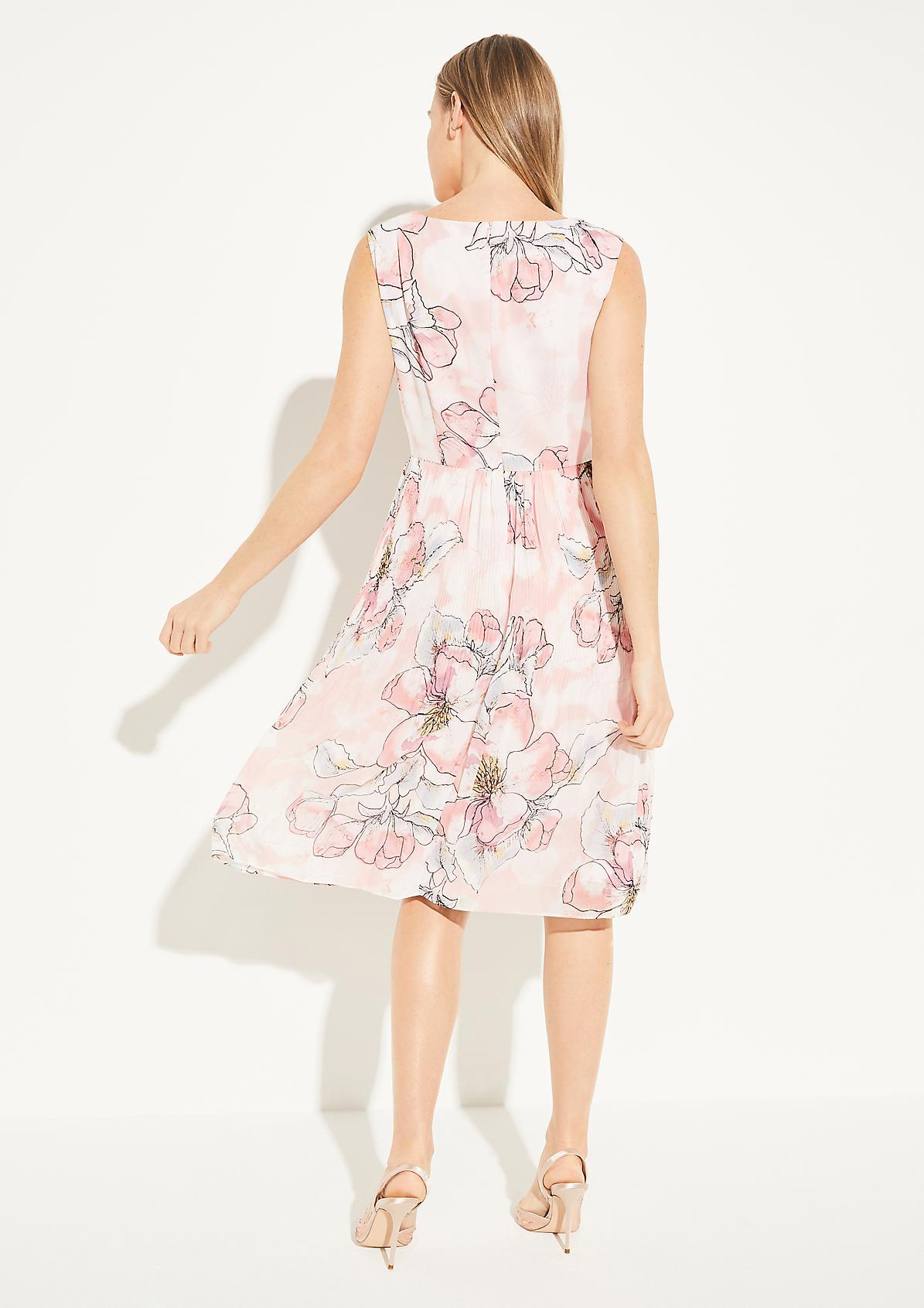 Kleid mit Plissee-Rockteil