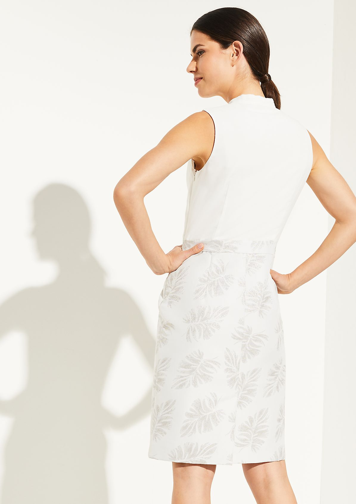 Dress with a jacquard skirt section from comma
