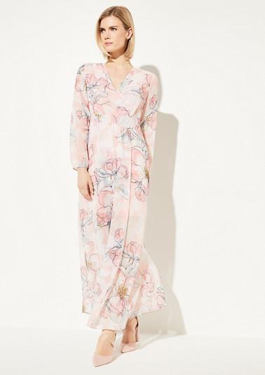 Chiffon-Kleid mit Wickeleffekt