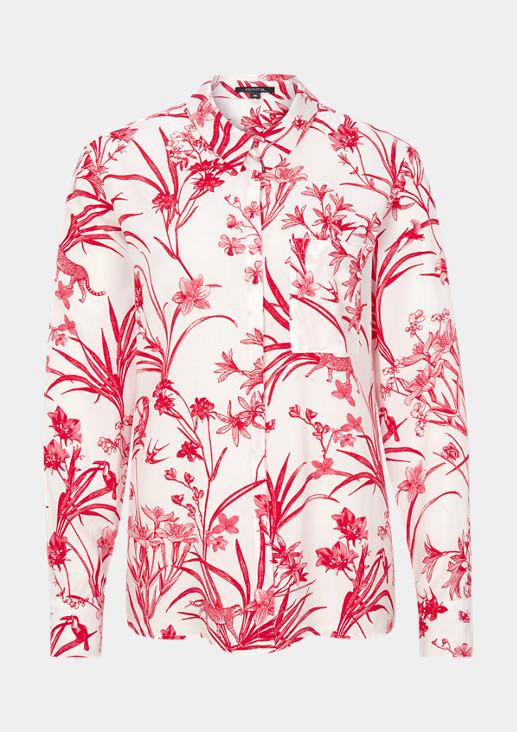 Bluse mit Exotic-Print
