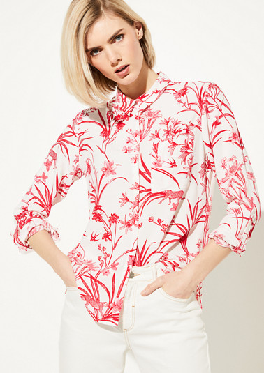 Blouse with exotic print from comma