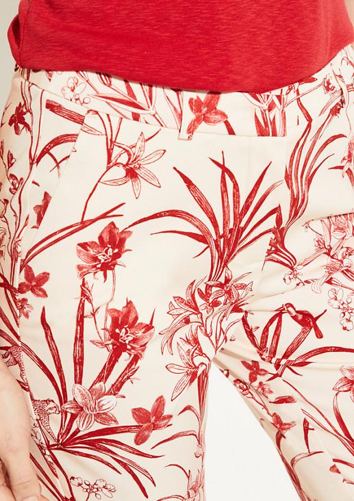 Regular Fit: Hose mit Blumenmuster