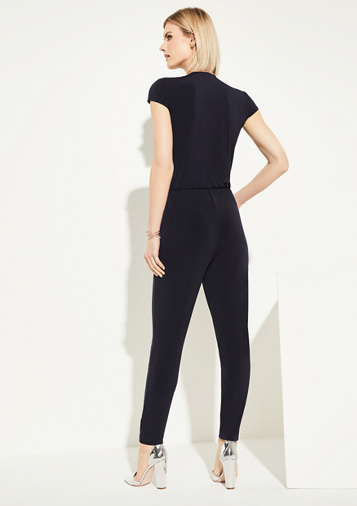 Jumpsuit mit Wickel-Detail