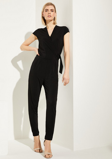 Jumpsuit with a wrap detail from comma