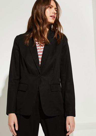 Lightweight blazer made of lyocell and linen from comma