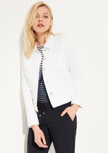 Leichte Jeansjacke mit Garment Dye