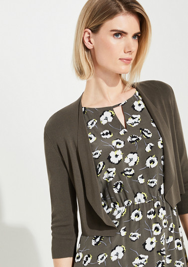 Cardigan with a loosely draped front from comma
