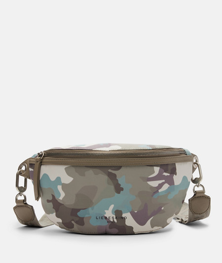 Belt wallet made of recycled nylon with a camouflage print from liebeskind