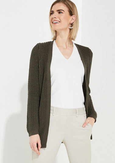 Textured knit cardigan from comma