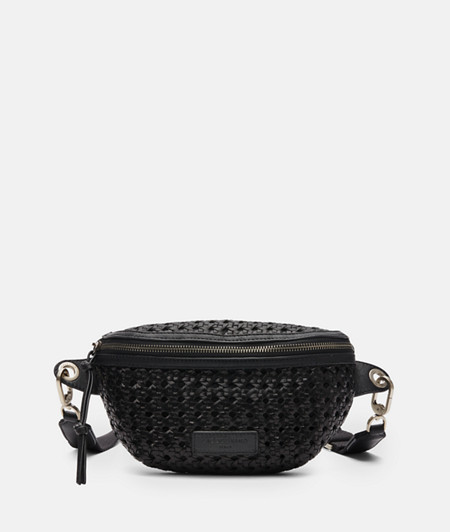 Hand-woven leather belt wallet from liebeskind