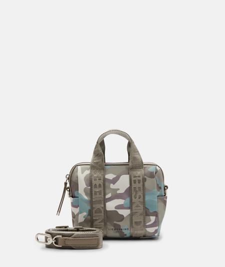 Kleine Tasche aus recycletem Nylon mit Camouflageprint