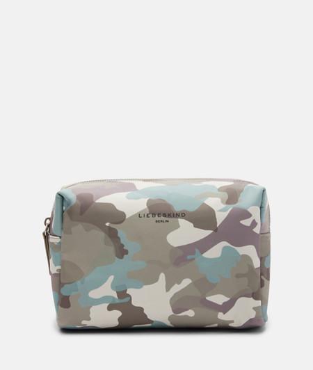 Kosmetiktasche aus recyceltem Nylon mit Camouflageprint