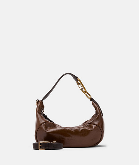 Shoulder bag made of lamb leather with a glossy finish from liebeskind