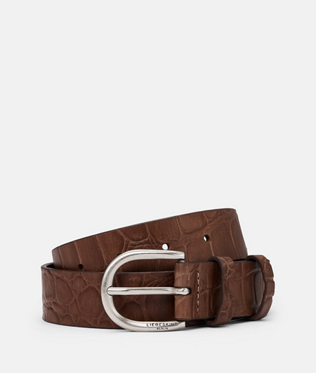Belt with crocodile embossing from liebeskind