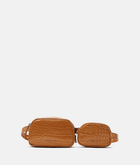 Two-piece belt bag with crocodile embossing from liebeskind