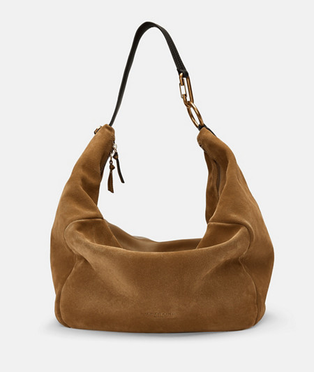 Hobo bag made of suede and soft leather from liebeskind
