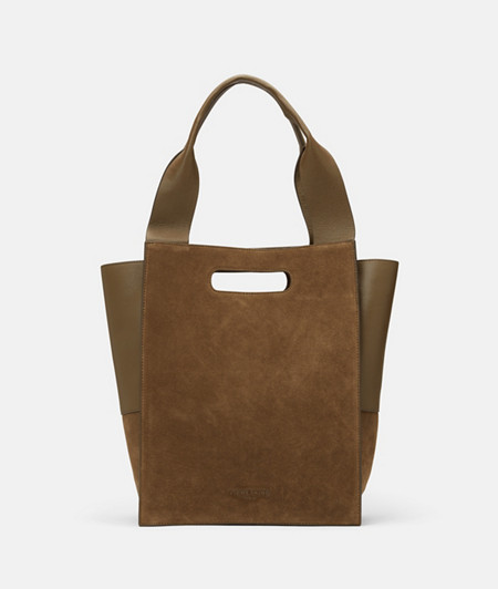 Tote bag made of suede and smooth leather from liebeskind