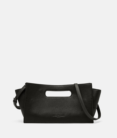 Leather clutch in a flat design from liebeskind