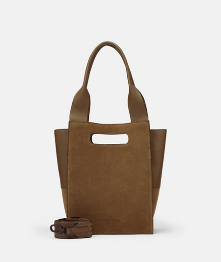 Suede and smooth leather tote bag from liebeskind