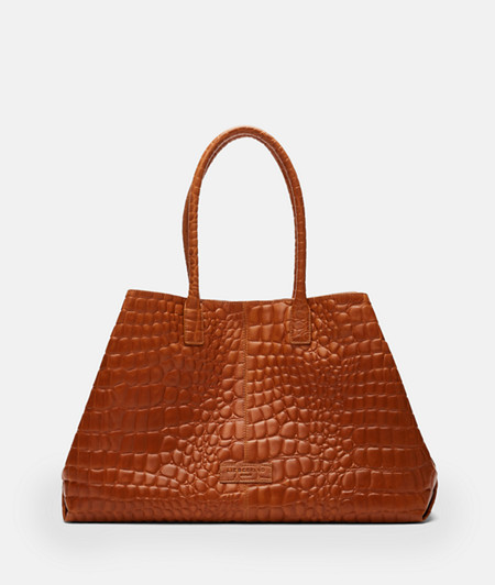 Shopper with crocodile embossing from liebeskind