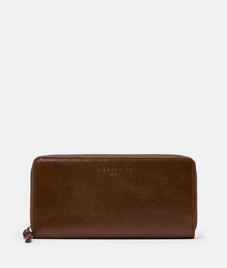 Purse made of leather with a glossy finish from liebeskind