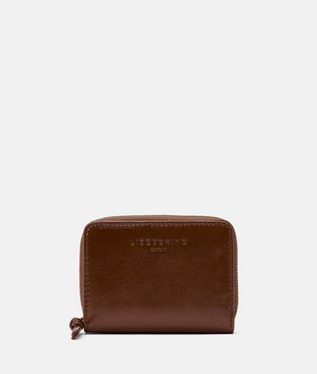 Geldbörse aus Leder mit glossy Finish