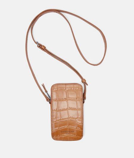 Sling Bag mit Krokoprägung und Glossy Finish
