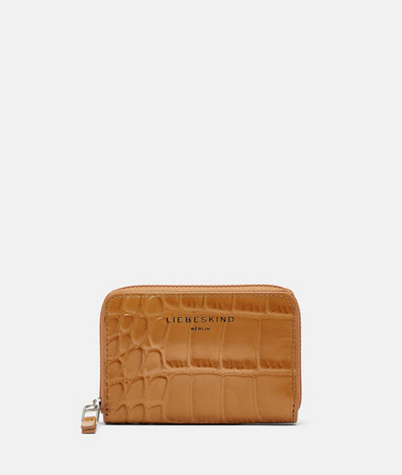 Wallet with crocodile embossing and a glossy finish from liebeskind