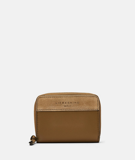 Practical wallet made of suede and smooth leather from liebeskind