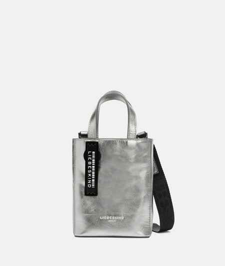 Small handbag made of metallic leather from liebeskind