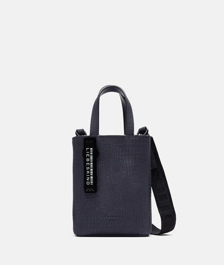 Small handbag with an embossed lizard skin pattern from liebeskind