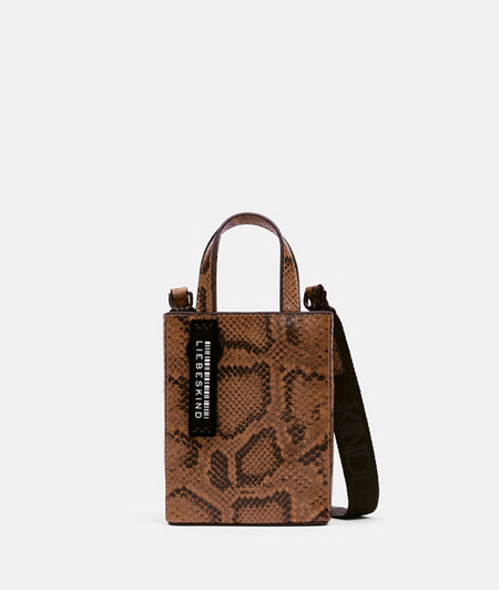 Small handbag with a snakeskin pattern from liebeskind