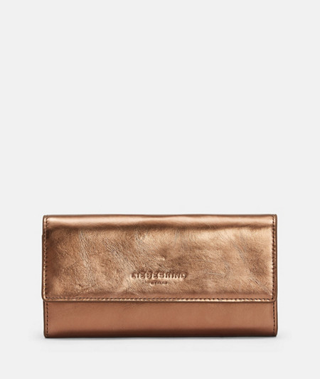Large wallet made of metallic leather from liebeskind