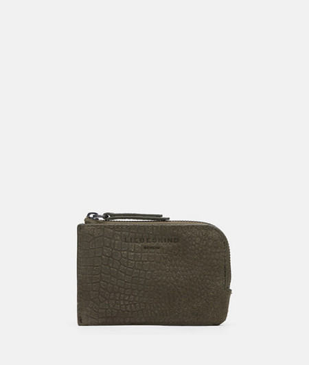 Wallet with an embossed lizard skin pattern from liebeskind