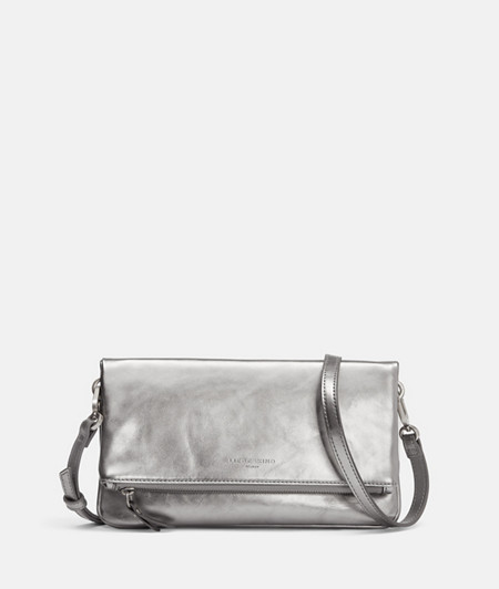 Folded clutch bag in metallic leather from liebeskind