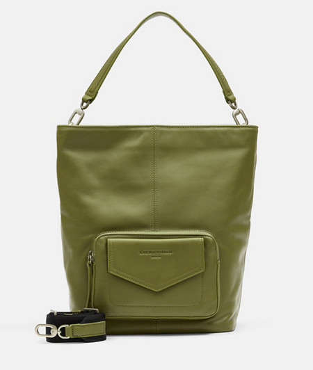 Hobo bag with a patch front compartment from liebeskind