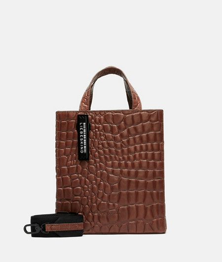 Minimalist handbag with crocodile embossing from liebeskind