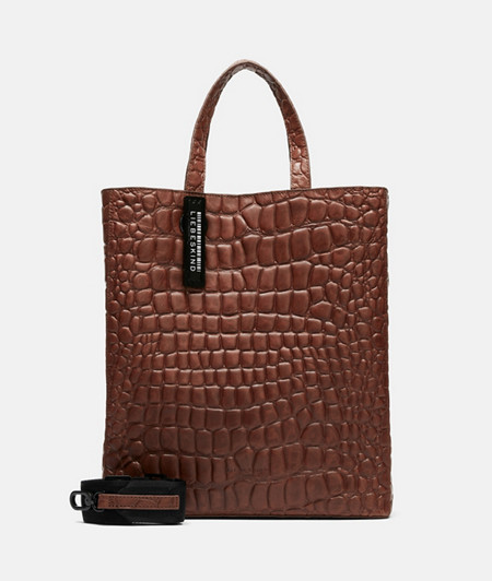 Minimalist handbag with crocodile embossing from liebeskind